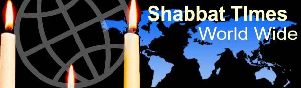 Shabbat begins (Knissat Shabbat) Shabbat ends (Motzei Shabbat)